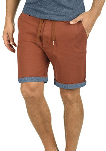 !Solid Lagoa Herren Chino Shorts Bermuda Kurze Hose Mit Kordel Aus Stretch-Material Regular Fit, Größe:L, Farbe:Fox Brown (6792)