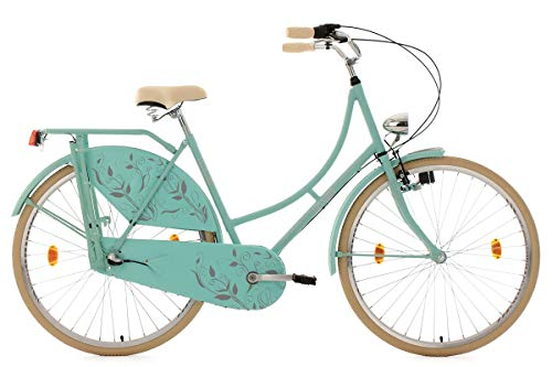 KS Cycling Damen Fahrrad Hollandrad Tussaud 3 Gänge RH 54 cm, Mint matt, 28 Zoll