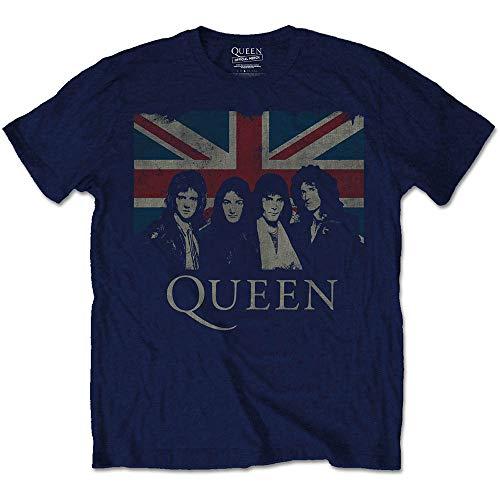 Rockoff Trade Herren Vintage Union Jack T-Shirt, blau (Marineblau), XL - Rhapsody Tee