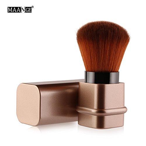 Pinceau Télescopique à Maquillage Pinceau Fard à Joues Rétractable Brosse Blush Télescopique Voyage