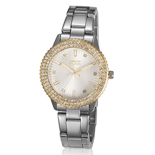 ALEXANDER MILTON - montre femme - VESTA, argente/dore