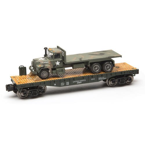 o-gauge-army-flatcar-with-mack-truck-by-menards