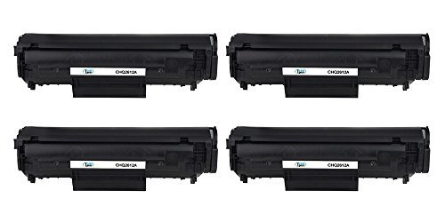Preisvergleich Produktbild Cool Toner 4 pack Compatible Toner für HP Q2612A 12a für HP LaserJet 1010 1012 1015 1018 1020 1022 3015 3020 3030 3050 3050Z 3052 3055 M1005MFP M1319MFP, HP Q2612A, 2000 seiten