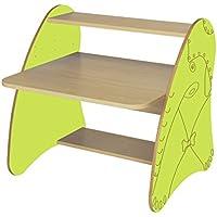 Mobeduc 600912hr13–PC-Tisch Kinder/Primär, Holz, Buche und apfelgrün, 80x 75x 80cm - preisvergleich