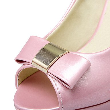 LvYuan Da donna-Sandali-Formale Casual Serata e festa-Altro-Quadrato-PU (Poliuretano)-Rosa Bianco Tessuto almond Pink