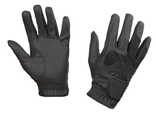Covalliero, guanti da equitazione gloria, nero (schwarz), m