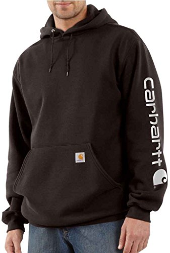 Carhartt Signature–Sweatshirt mit Kapuze Herren, mit Carhartt Logo Dark Brown