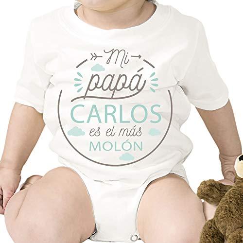 Regalo personalizado: body para bebé 'Papá Molón' personalizado con
