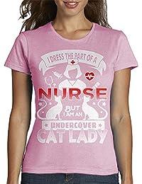 latostadora - Camiseta Enfermera - de los Gatos para Mujer
