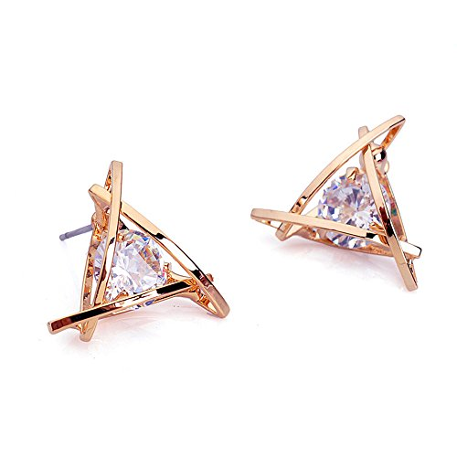 findout-ladies-rose-gold-plated-swarovsky-element-crystal-diamond-triangle-square-earrings-for-women