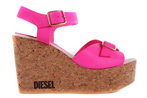 DIESEL Sandali da Donna con Zeppa - Wedge Pumps Pink #44 - Fucsia, EUR 39