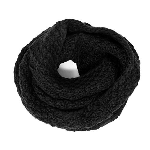 Tacobear sciarpa donna invernale scaldacollo loop sciarpa snood sciarpa in maglia calda invernale sciarpa per donna e uomo (nero)