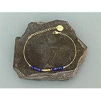 Braccialetto di perle viola placcato oro 24 carati, bracciale in oro, idea regalo, braccialetto di perle, gioielli regali, gioielli da donna in oro