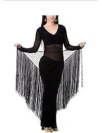 HOEREV main Belly Dance Hip foulard, écharpe pailletée Fringe Jupe-Hip