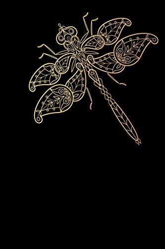 Notes: Dragonfly / Medium Size Notebook with Lined Interior, Page Number and Daily Entry Ideal for Organization, Taking Notes, Journal, Diary, Daily Planner -