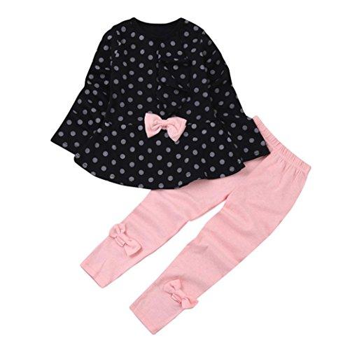 Covermason Baby Kinder Mädchen T-Shirt Tops + Hosen Bekleidungssets Baby Sets (4 Jahre, Marine) (Top Mädchen T-shirt 4)