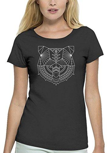 Premium Damen T-Shirt aus Bio Baumwolle Polygon Bär Stanley Stella Anthrazite
