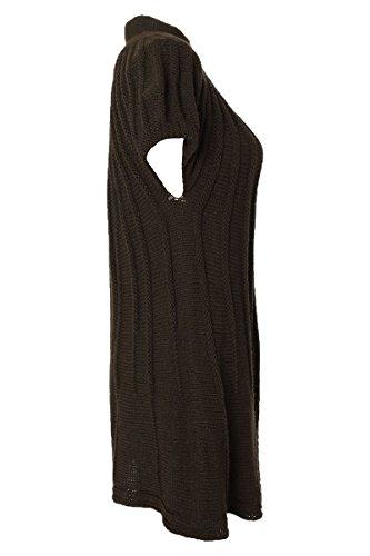 Moda Italy - Gilet - Cardigan - Femme - Kaki