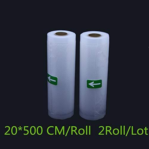 KHKJ 2 Rolls/Lot 12/15//20/22/25/28 * 500 cm Vacuum Seal Bags for Vacuum Sealer Machine Packing Container Food Bag Storage -