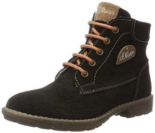 s.Oliver Mädchen 46215 Stiefel, Schwarz (Black), 38 EU (Schwarze Stiefel Für Mädchen)
