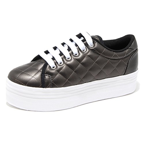 6654H sneakers zeppe donna JEFFREY CAMPBELL zomg quilted lea scarpe shoes women, Marrone, 41