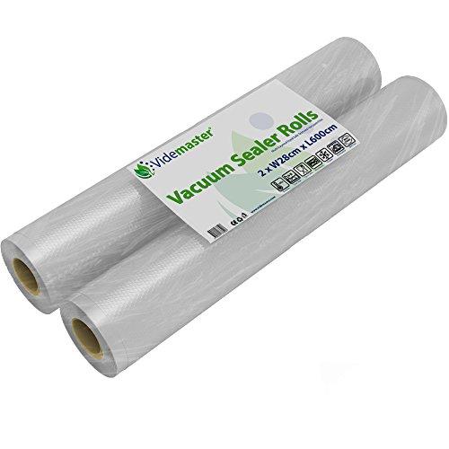 2x machine à emballer sous vide Rouleaux 28cm (L) x 6metre (L) (12M au total)