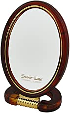 Scarlet Line Double Sided Hand/stand Oval Mirror Small