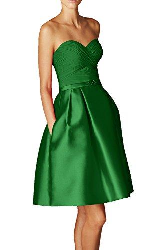 Milano Bride Rot Elegant Kurzes Herzausschnitt Cocktailkleider Partykleider Promkleider Abiballkleider Mini Heimkehr Kleider Grün