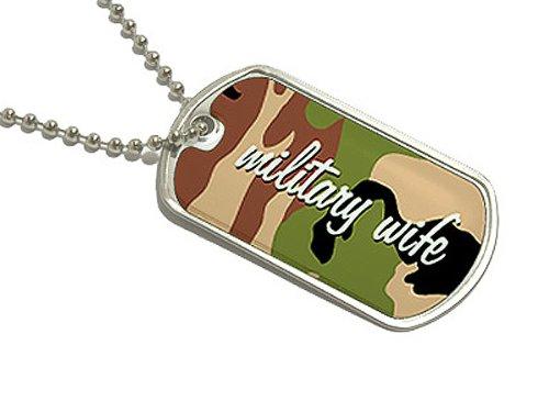 Militär Frau–Militärische Erkennungsmarke Schlüsselanhänger (Militär-abziehbild-aufkleber)