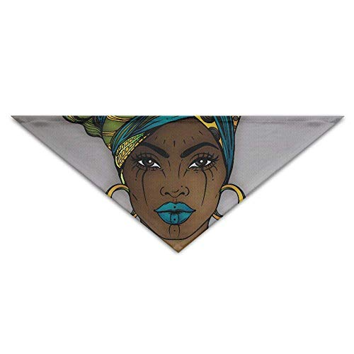 Gxdchfj Beautiful Fashion Black Woman Triangle Pet Scarf Dog Bandana Pet Collars for Dog Cat - Birthday