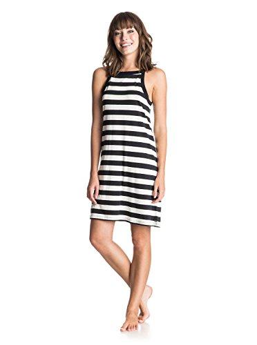 Roxy Damen Stranded On A Sandbar Tank Dress, Classic Stripe True Black, M, (Tank Dress Black)