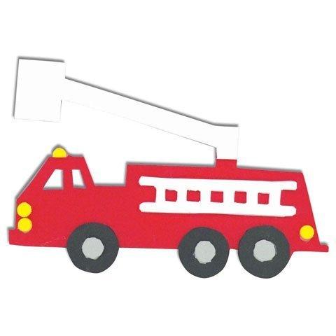 Darice Foamies Foam (Bulk Buy: Darice Foamies Foam Kit Fire Truck 6.25 inches (6-Pack) 1028-76 by Darice Bulk Buy)
