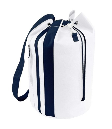 <span class='b_prefix'></span> Bagbase Unisex Adults Pacific Sea Bag White/French Navy One Size