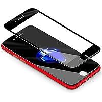 "iPhone 7 Plus 8 Plus Schutzfolie,Coolreall® Full Screen Curved Panzerglas für iPhone 7 Plus / iPhone 8 Plus5,5"",[9H Härtegrad,3D-Touch kompatibel](Schwarz)"