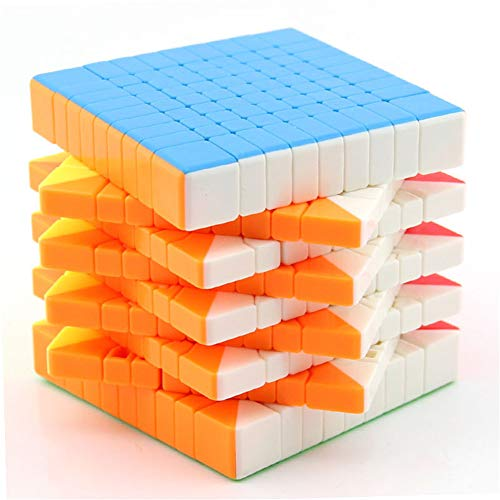 Ysss 9 Capas 9 Rubik Cube Negro/Blanco/sin Etiqueta
