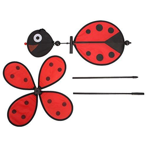 Wanfor Bee Marienkäfer Windmühle Whirligig Wind Spinner Hausgarten Garten Dekor Kinder Spielzeug - Dekore Die Partei Für Material