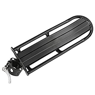 ANCHEER Carrier Rear Rack for Mountain Bike Cycling Bicycle Rear Luggage Rack Pannier Seat Racks Black