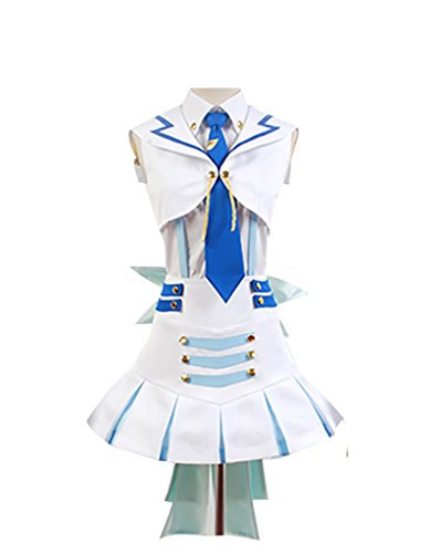 Kostüm Rush Wonderful - LoveLive! Wonderful Rush Eli Ayase Dress Cosplay Kostüm Damen Weiß L