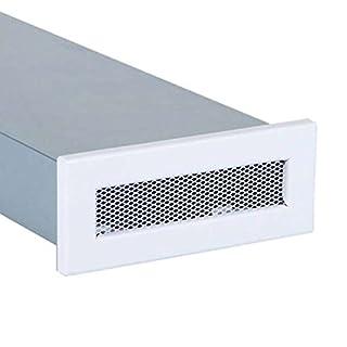 Lüftungsgitter für Flachkanal 150 x 50 mm Weiß