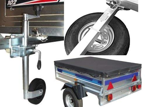 Accessory kit for Trailer Erde 122 and Daxara 127, includes Spare wheel, jockey wheel and fixing kit, Trailer cover and spare wheel carrier Pt no. LMX1441