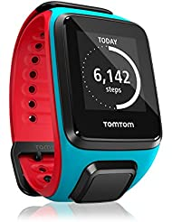 TomTom Runner 2 Cardio Montre GPS Taille L Bleu Rouge/Scuba