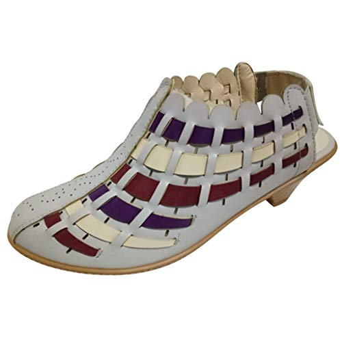 Stivaletti Donna Elegante Sling Back Scarpe Tacco a Blocco Donne Stivali Western Tessere Ankle Short Boots Ladies Shoes