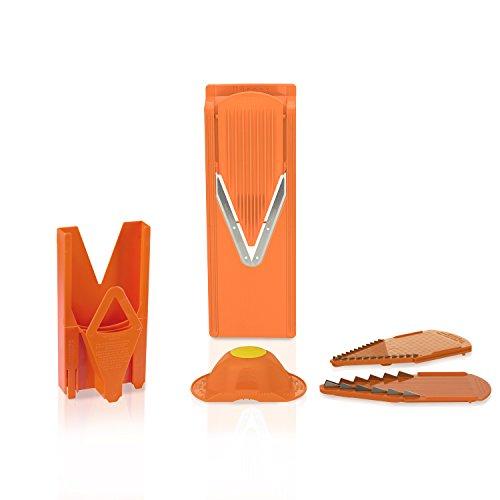 Börner V3 Küchenhobel mit Halter & Multibox in orange, Reibe, Kartoffelschneider