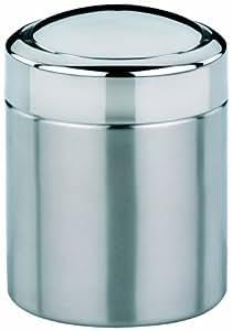 Kela 21381 ano mini poubelle de salle de bain couvercle basculant 1 5 litre acier inoxydable - Mini poubelle salle de bain ...