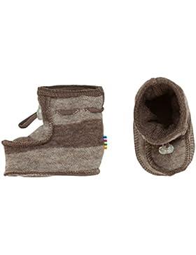 Joha Baby Footies warme Schuhe reine Merino-Wolle schlamm