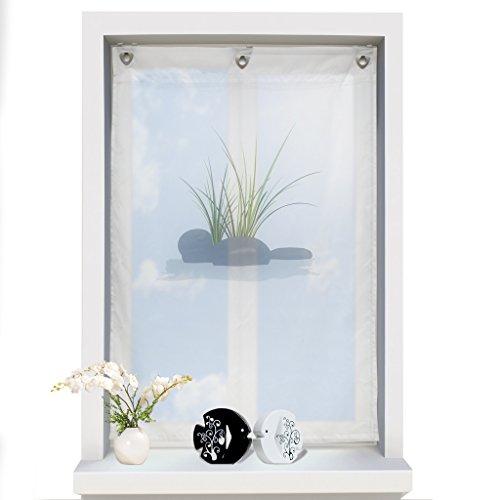 1er voile raffrollo mit haken sen aufh ngung ohne bohren. Black Bedroom Furniture Sets. Home Design Ideas