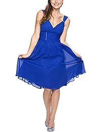 Astrapahl, Cocktaikleid, Abendkleid, breite Täger, Festkleid, Brautkleid, lang, Farbe blau
