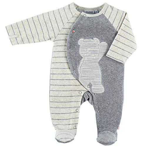 Noukie's Noukies Pyjama grenouillère en Velours Bébé Garçon écru 9M