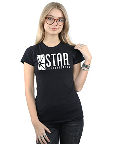 Kostüm Star Flash Labs - DC Comics Damen The Flash STAR Labs T-Shirt Medium Schwarz