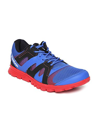 Reebok Men's Electro Run Lp Blue, Red and White Running Shoes -...
